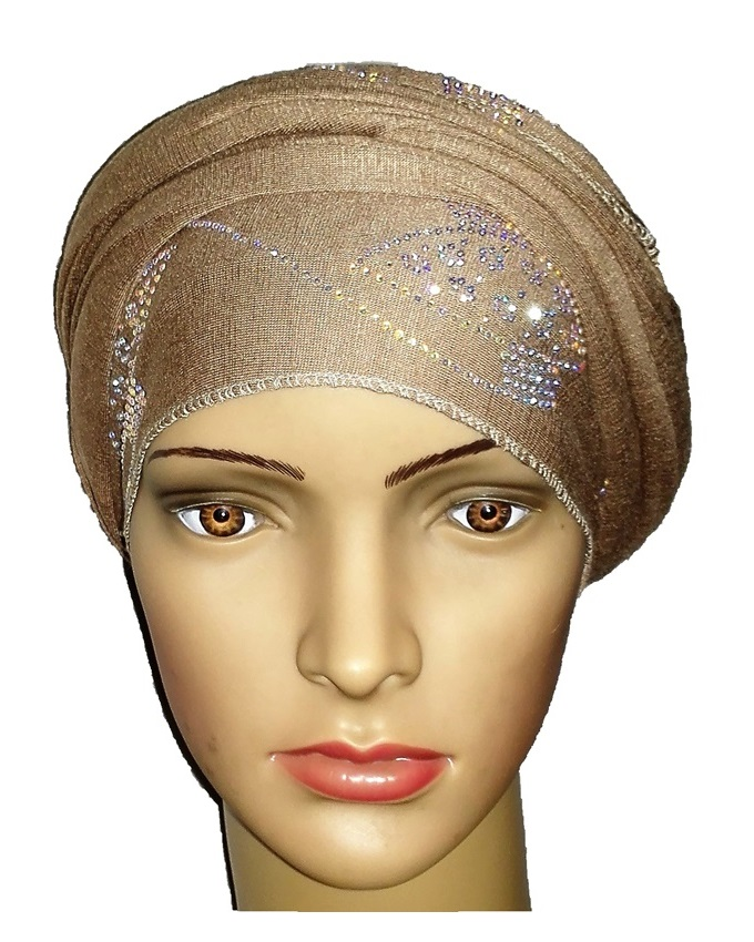 new    regal turban orbital print - desert brown   n5,800