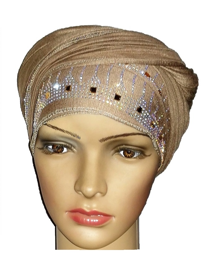 new    regal turban large line studs - desert brown   n5,800