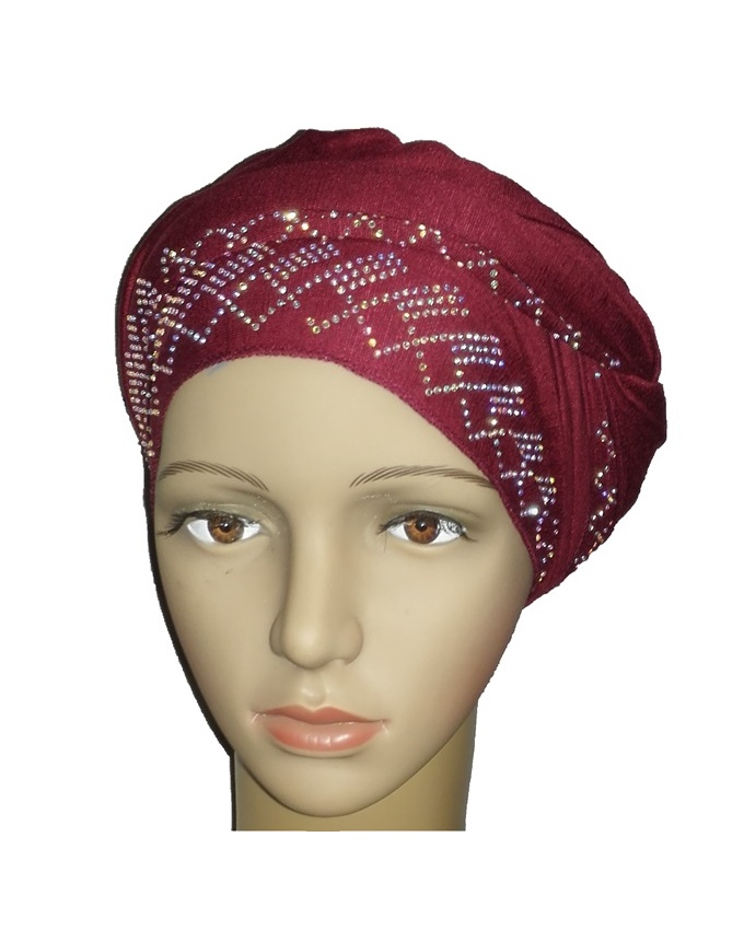 new    regal turban diamond design - burgundy   n5,800