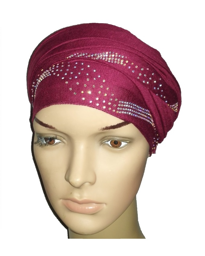 new    regal turban centric print - burgundy   n5,800