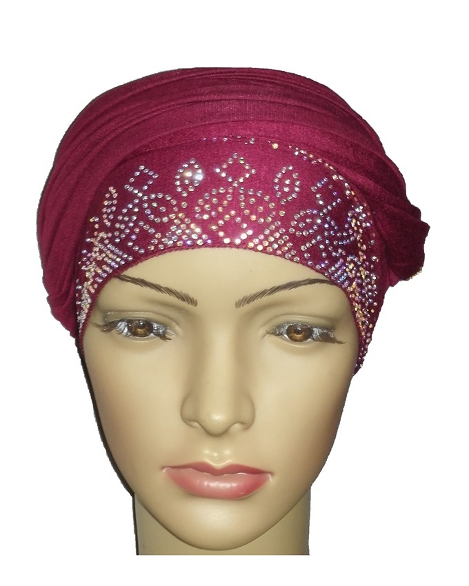 new    regal turban sienna studs - burgundy   n5,800