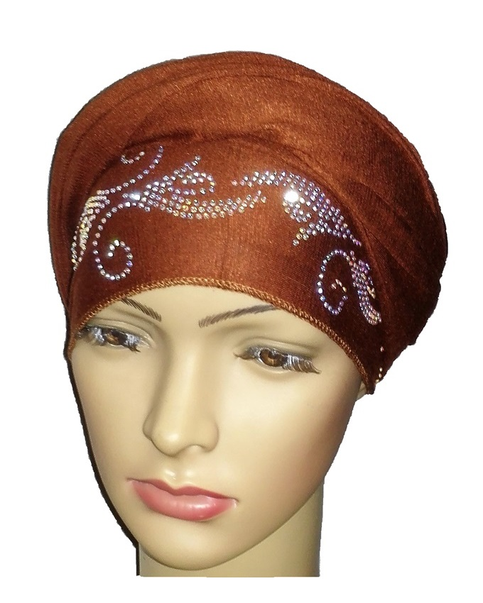 new    regal turban bajan wave design - cocoa brown   n5,800
