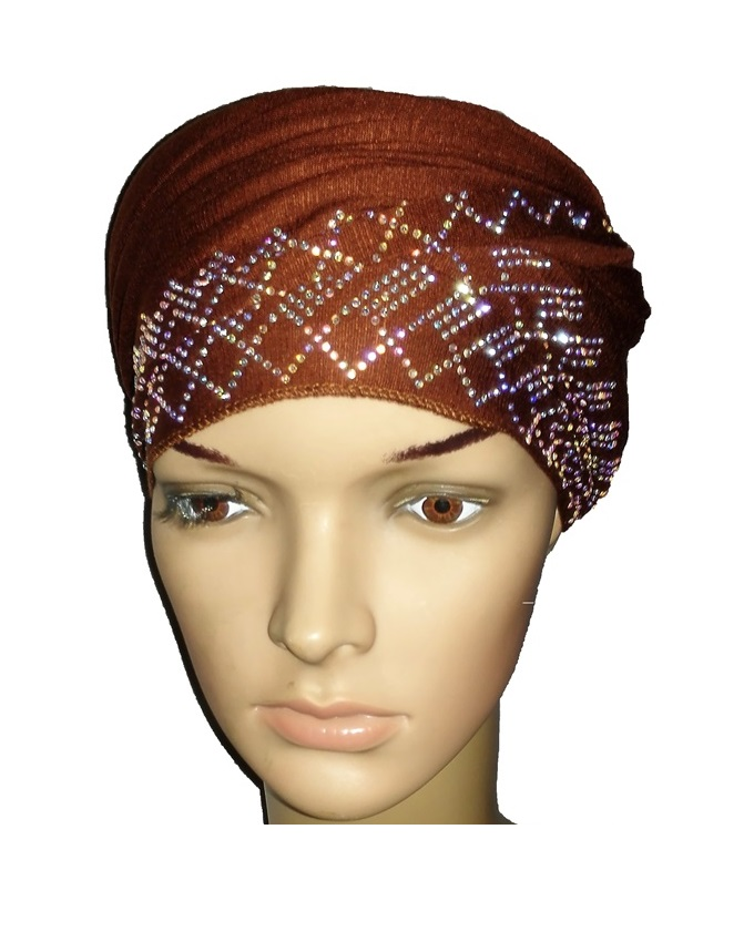 new    regal turban  diamond design - cocoa brown   n5,800
