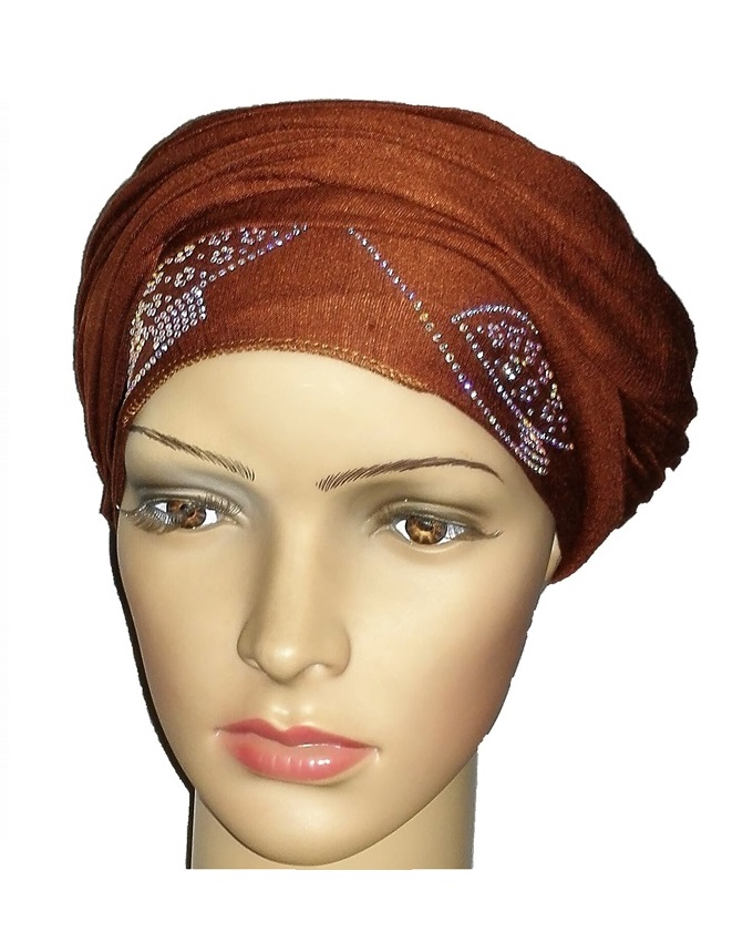 new    regal turban orbital print - cocoa brown   n5,800