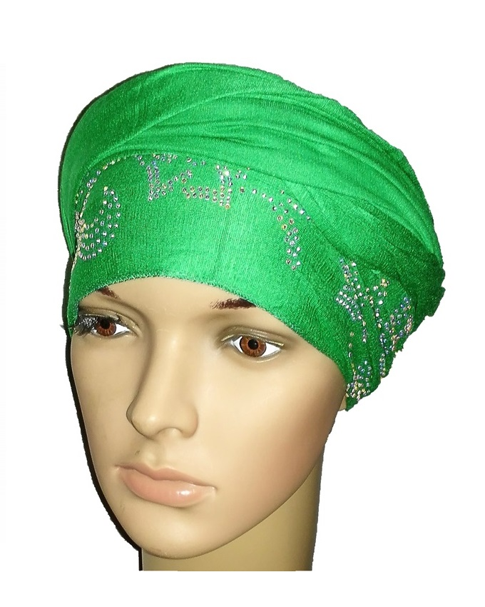 new    regal turban petal circle design - leaf green   n5,800  (sold out)