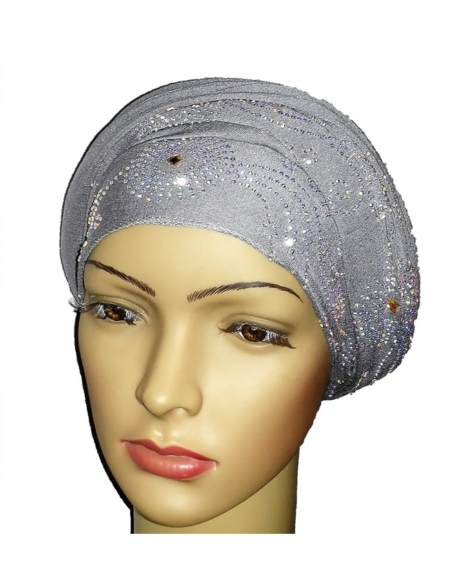 new    regal turban circle studs - ash grey   n5,800