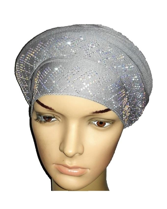 new    regal turban diamond design - ash grey   n5,800
