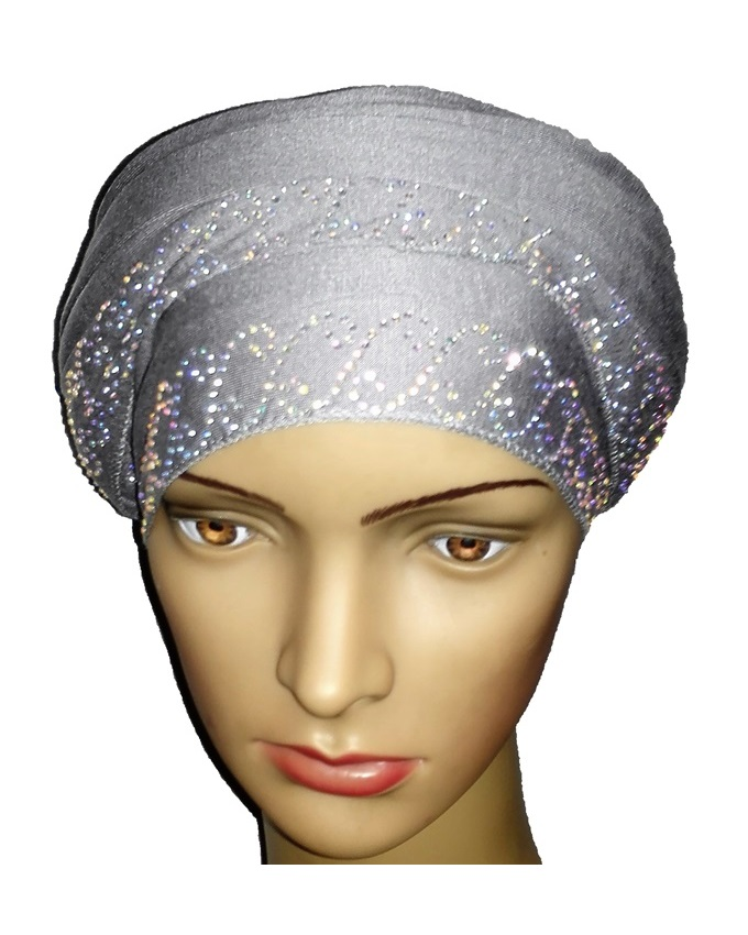new    regal turban chain link design - ash grey   n5,800
