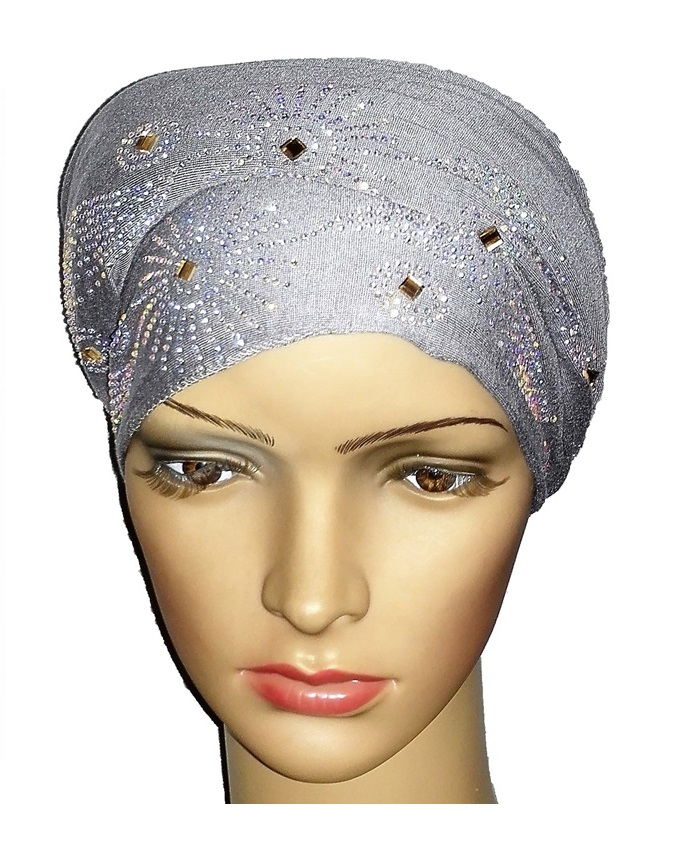 new    regal turban sun circle studs - ash grey   n5,800