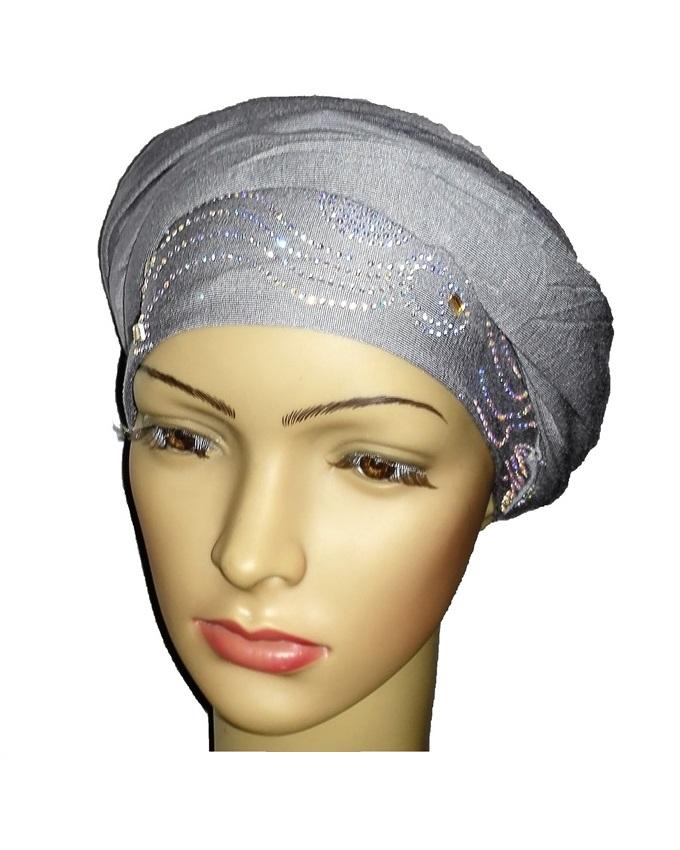 new    regal turban wave & circle - ash grey   n5,800
