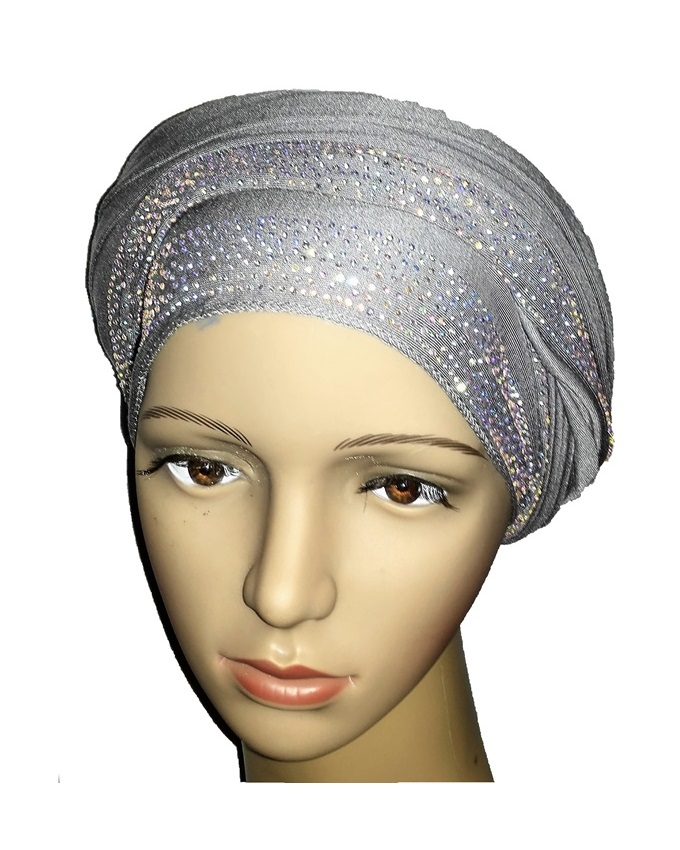 new    regal turban loaded stud design - ash grey   n5,800