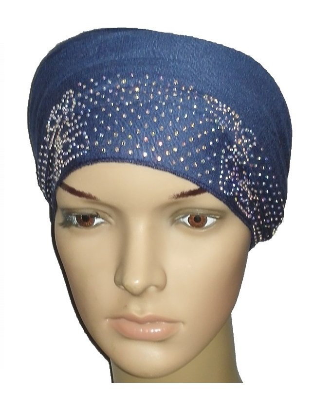 new    regal turban vendla print - atlantic blue   n5,800
