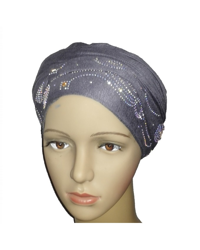 new    regal turban wave & circle design - slate grey   n5,800