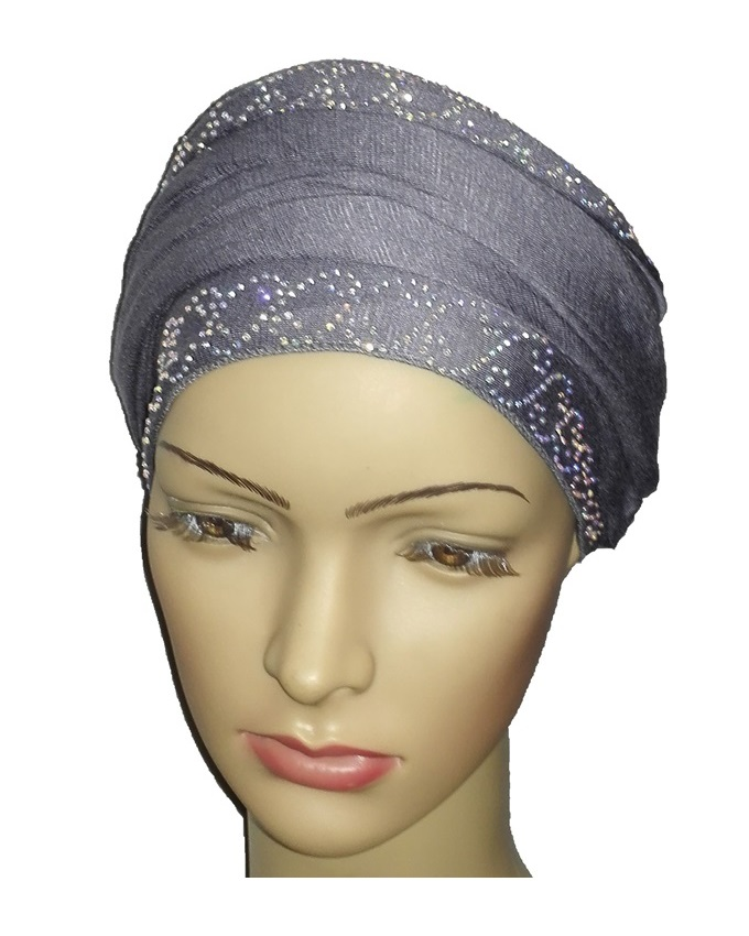 new    regal turban chain link design - slate grey   n5,800