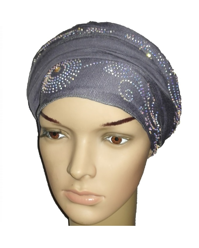 new    regal turban circle studs - slate grey   n5,800