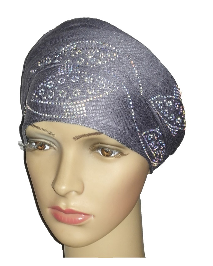 new    regal turban orbital print - slate grey   n5,800
