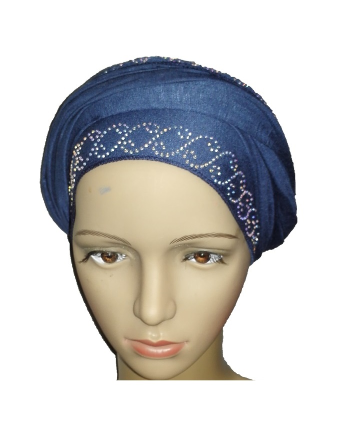 new    regal turban chain link design - atlantic blue   n5,800