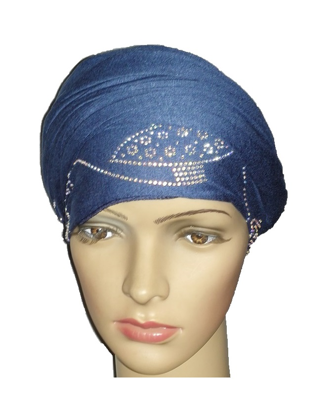 new    regal turban orbital print - atlantic blue   n5,800
