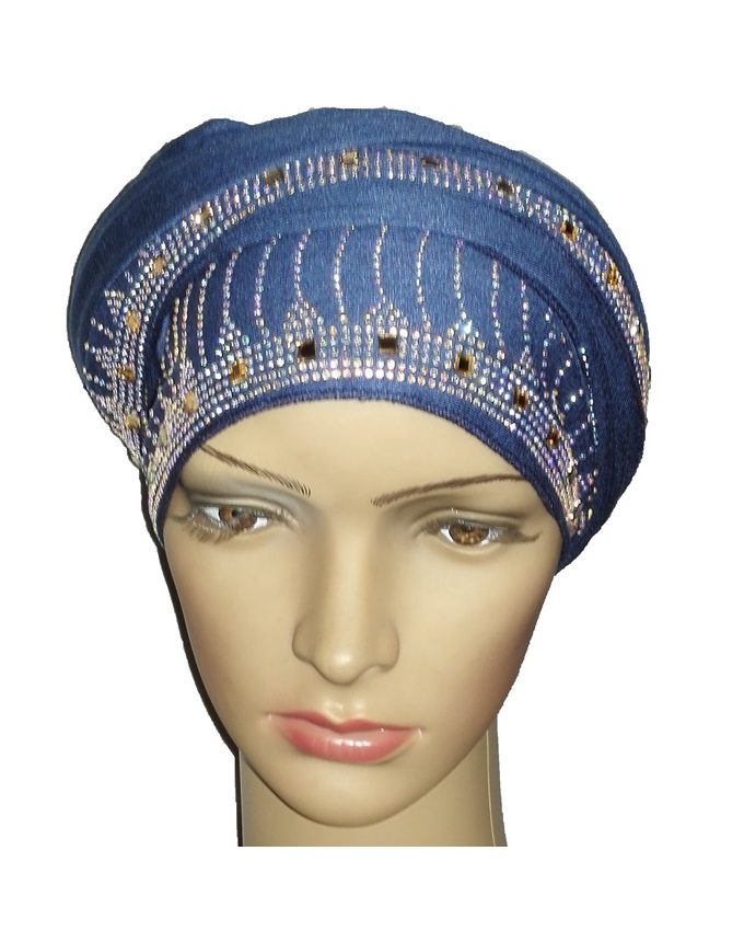 new    regal turban large line studs - atlantic blue   n5,800