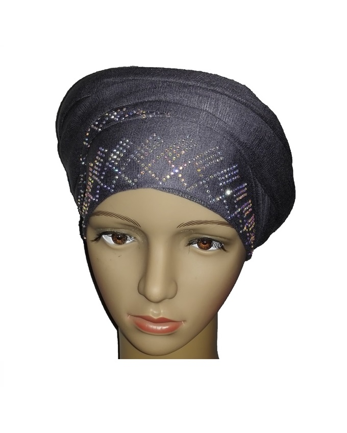 new    regal turban diamond design - slate grey   n5,800