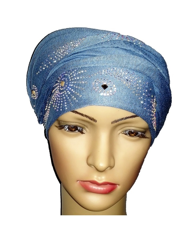 new    regal turban sun circle studs - baby blue   n5,800