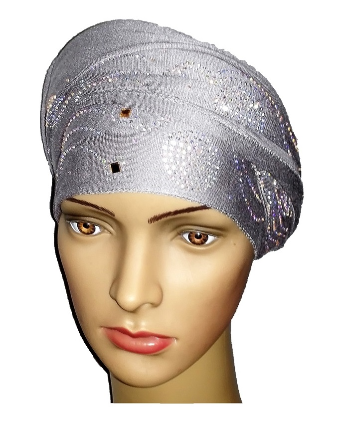 new    regal turban wave and circle design - grey   n5,800