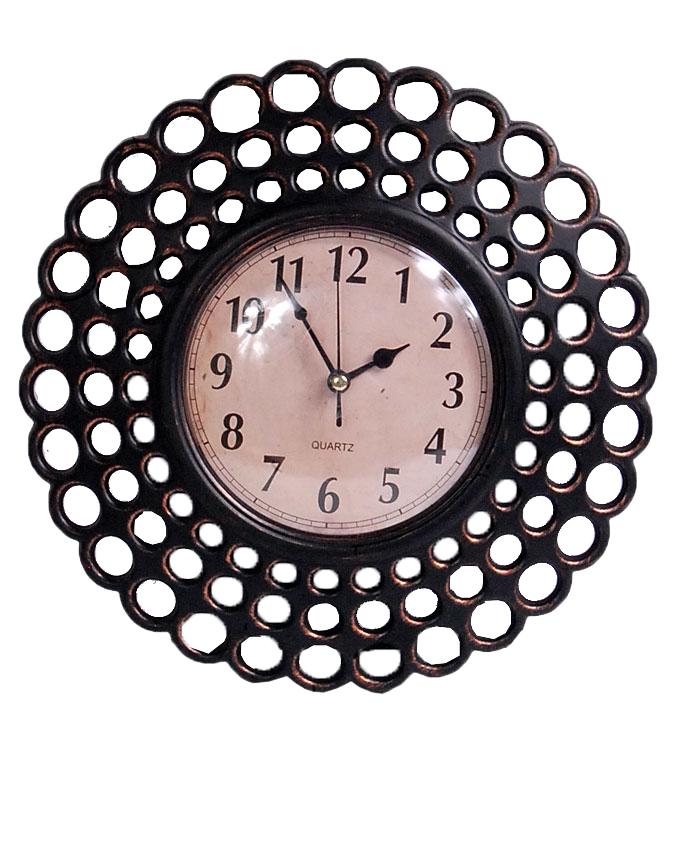 NEW    BROWN HIGH FIBER PLASTIC CLOCK 25CM   N3,500