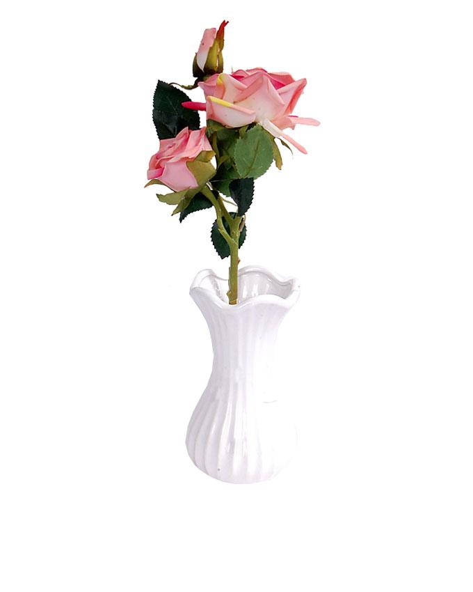 veni vase with pink rose   n5,000