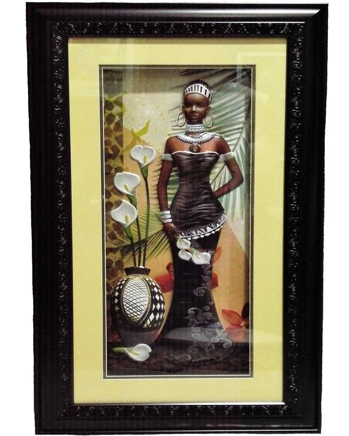 reya african lady painting - 67 x 39cm   n12,000