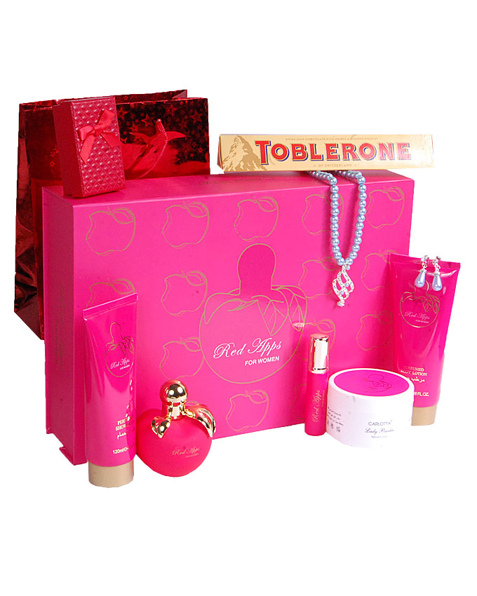 RED APPS GIFT SET ( TEDDY, CANDLE, PILLOW)   W/ CHOCOLATE AND EARRINGS - N16,000  W/O CHOCOLATE & EARRINGS   - N10,000