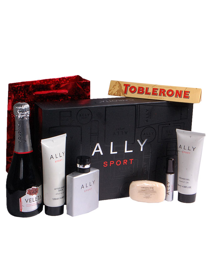 ALLY SPORT GIFT SET   W/ DRINK AND CHOCOLATE    - N14,000  W/O DRINK AND CHOCOLATE - N10,000