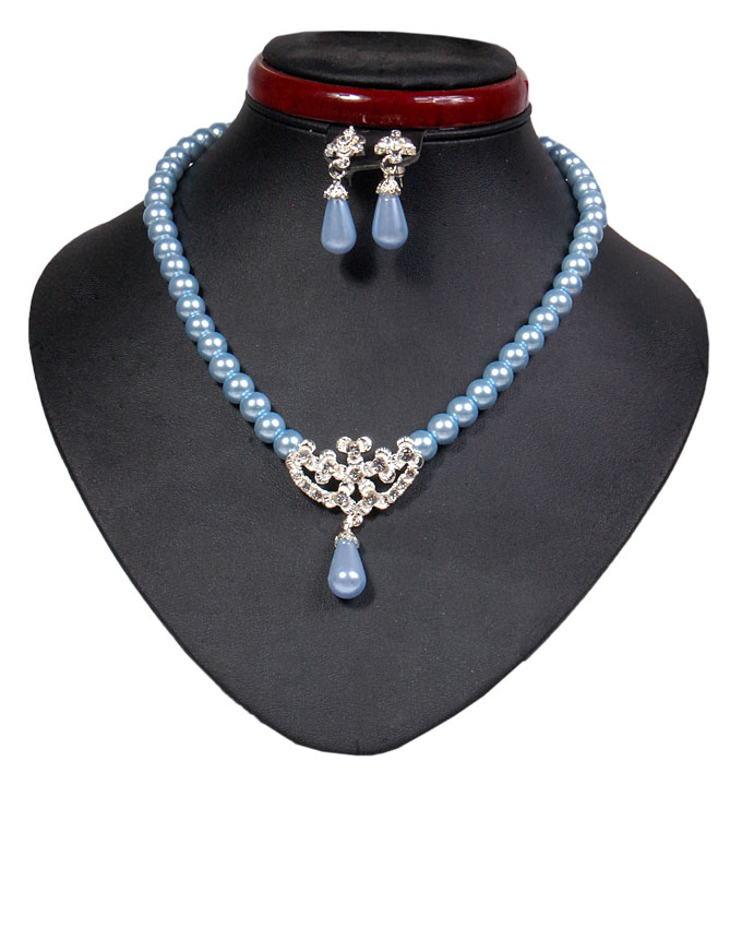 new    fulham bear pearl set - baby blue   n2,500