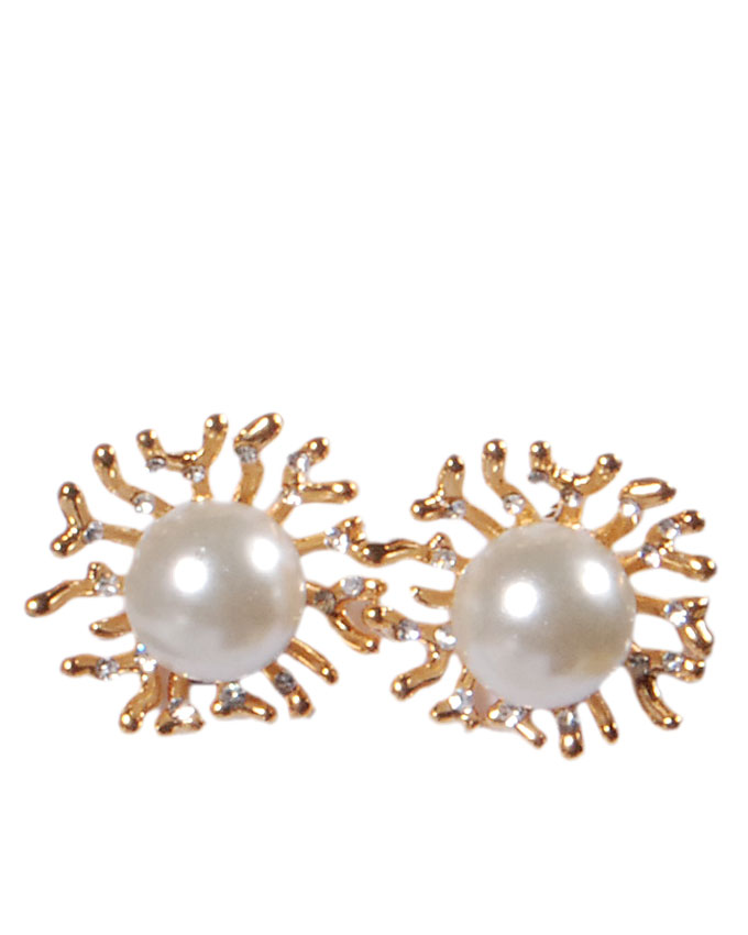 new item no t03321g1z    sunshine pearl earrings - gold   n4,500