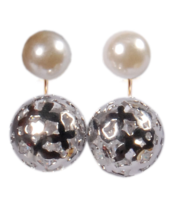 new item no kb05474a12    poole pearl earrings - silver   n5,000
