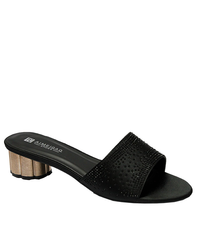 lucy leather slipper with stud detail - black   eu size 36, 37, 38, 39, 40, 41  n12,000