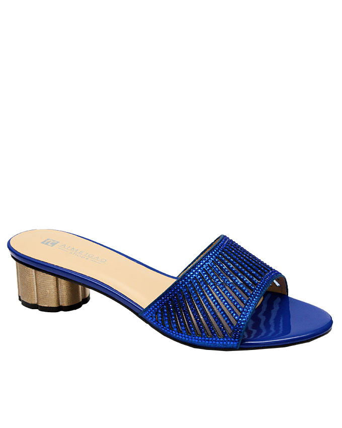rob slipper with cut-out strips detail - blue   eu size 36, 37, 38, 39, 40, 41  n12,500