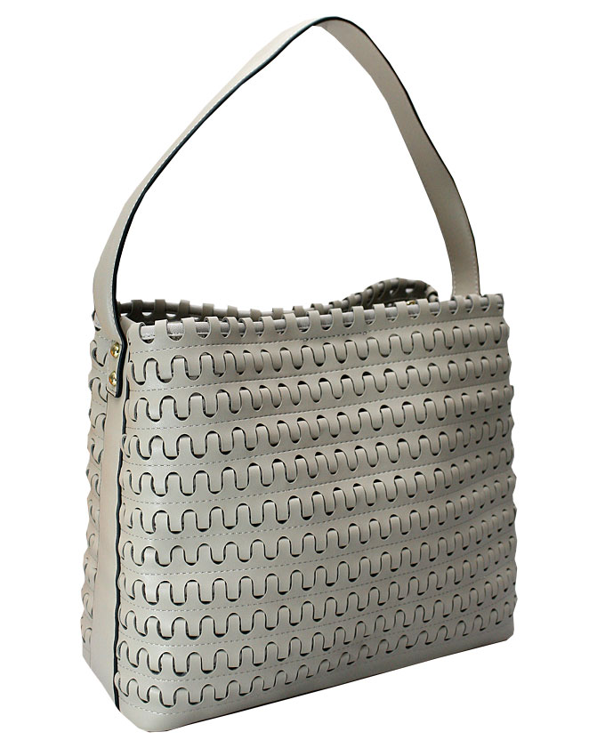 Mayfair weave bag - khaki (side view)   n25,000