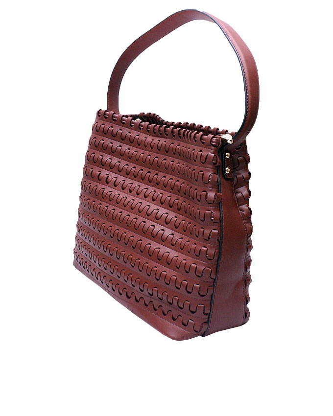 mayfair weave bag - maroon ( side view)   n25,000