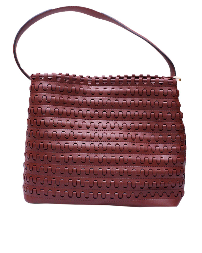mayfair weave bag - maroon ( back view)   n25,000