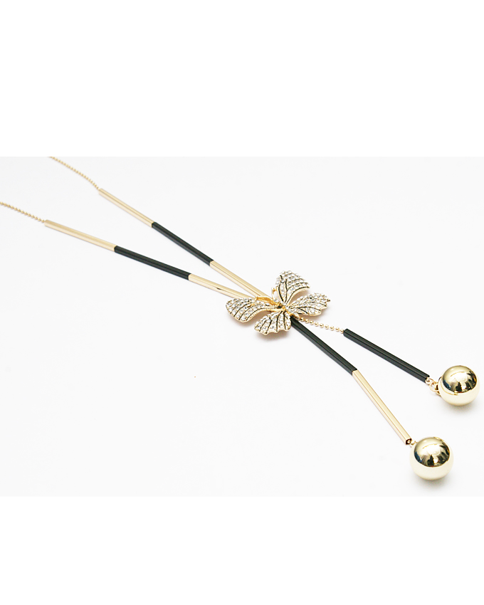 ginko necklace - gold   n3,900