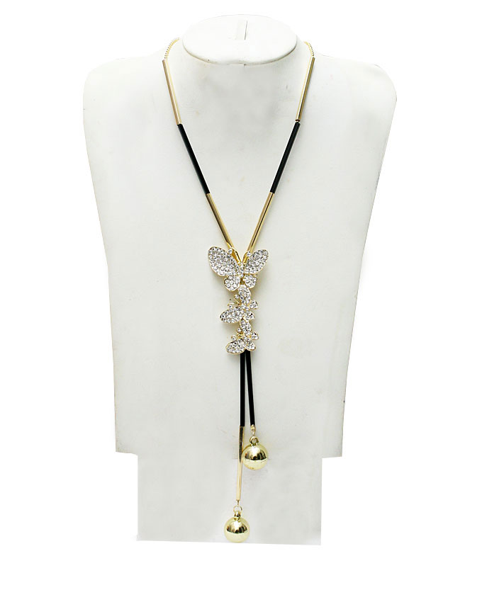 trifly butterfly necklace - gold   n3,900