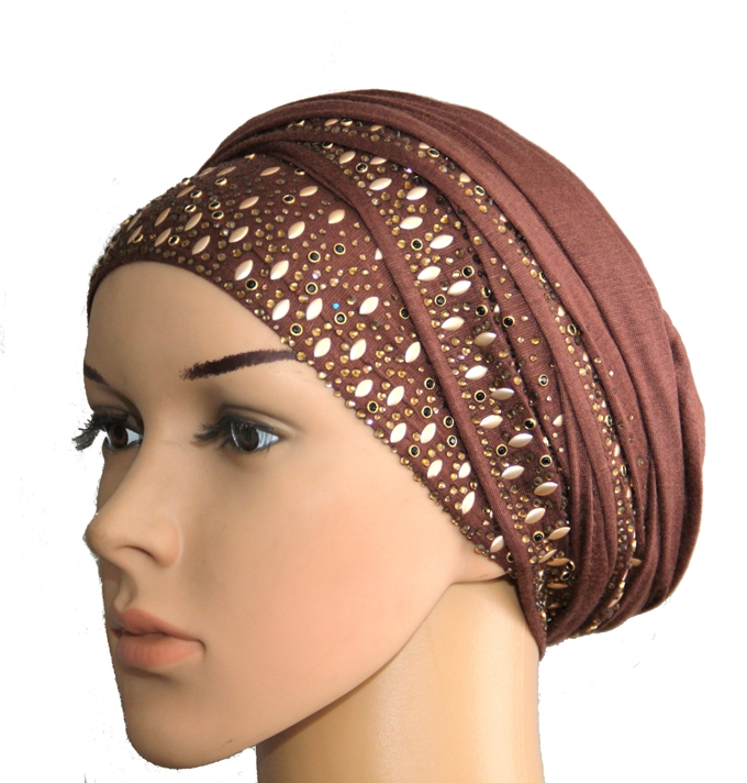 STAND OUT IN A SELF TIE COTTON STUDDED TURBAN - ALL COLORS, ALL DESIGNS