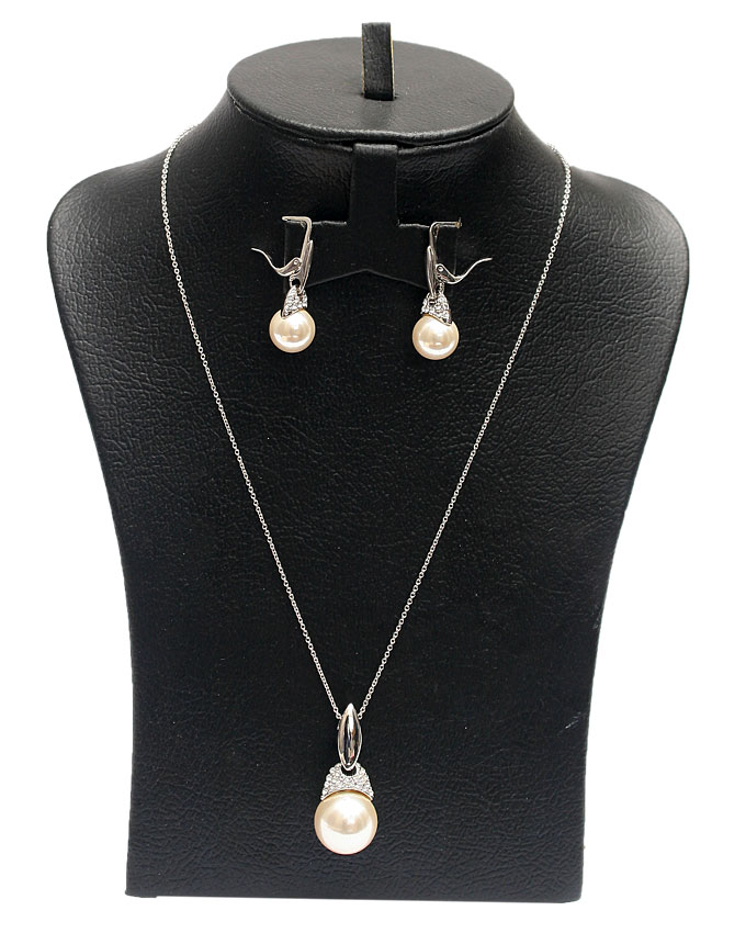 diana necklace set - silver   n3,500