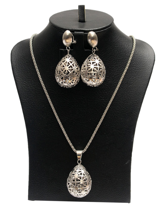 ares egg 2 piece set - silver   n2,900