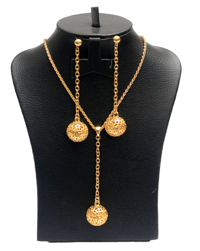 feng drop jewelry set (gold) - 2 piece   n3,000
