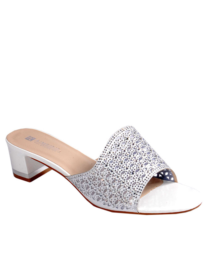 S A L E I T E M    laser cut slipper with stud detail - white    SOLD OUT    SOLD OUT