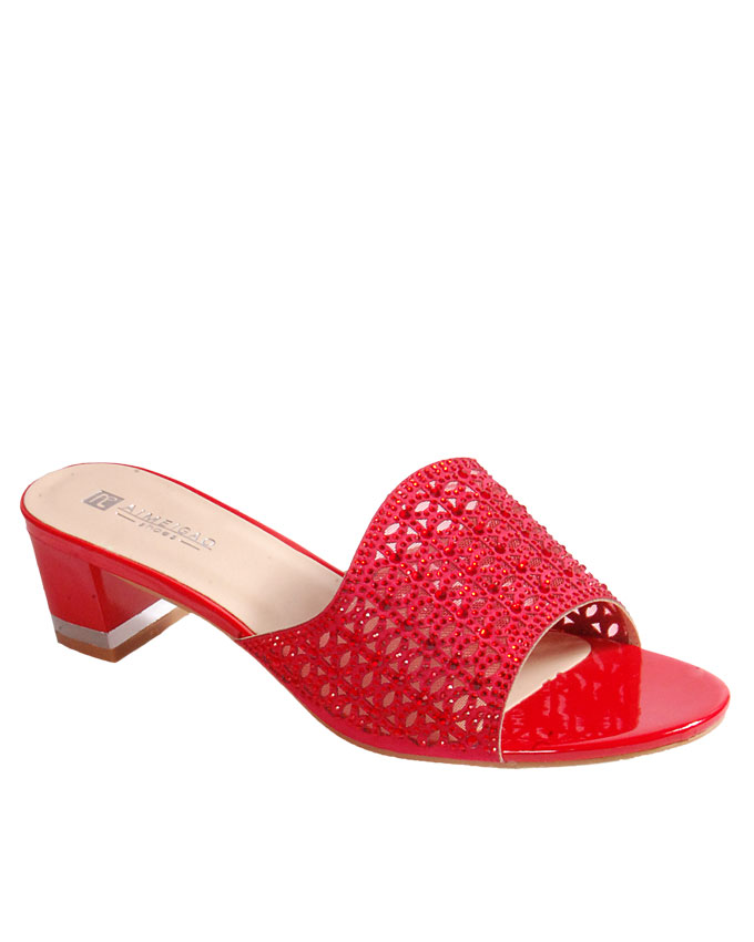 S A L E I T E M    laser cut slipper with top studs detail - red    SOLD OUT    SOLD OUT