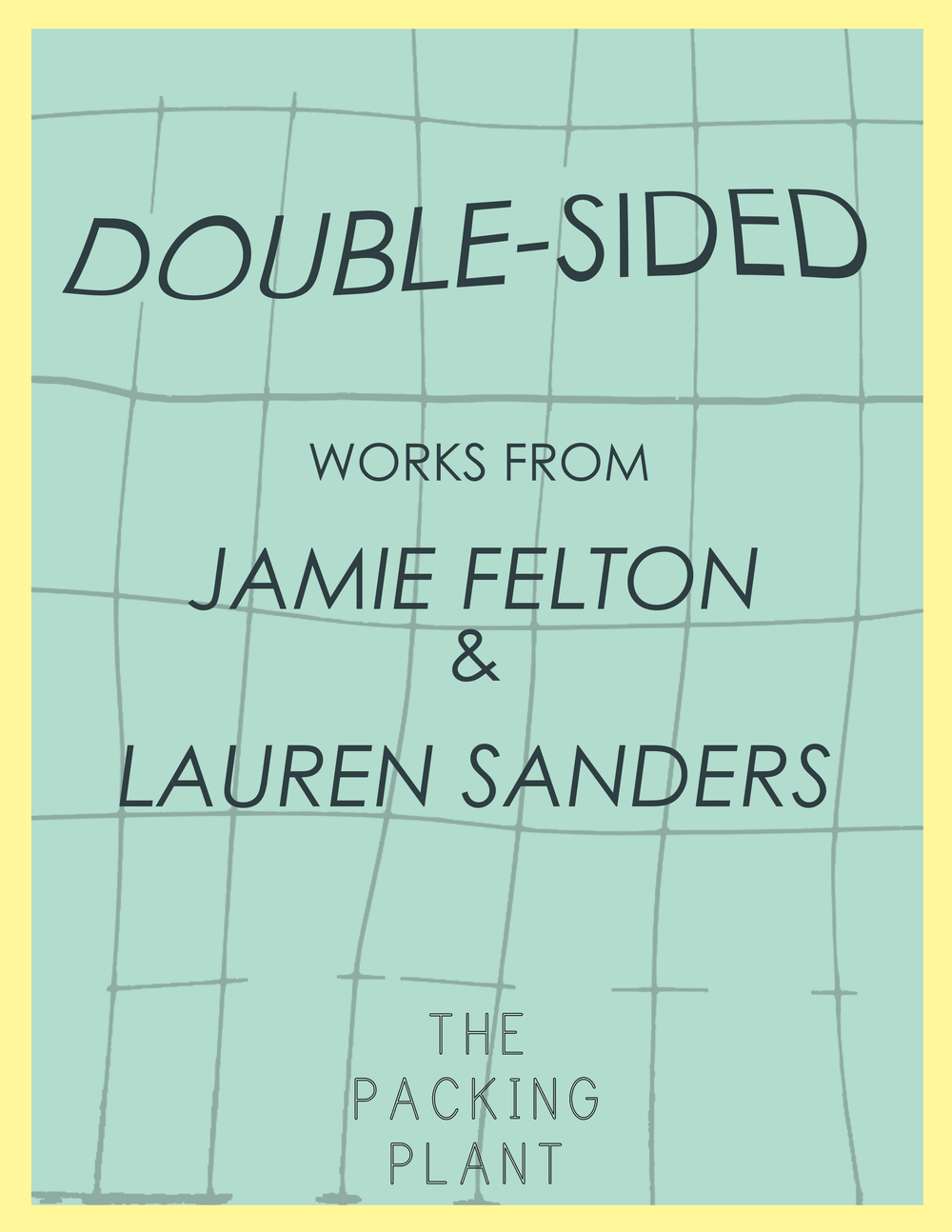 DOUBLE-SIDED   Jamie Felton & Lauren Sanders  March 2015