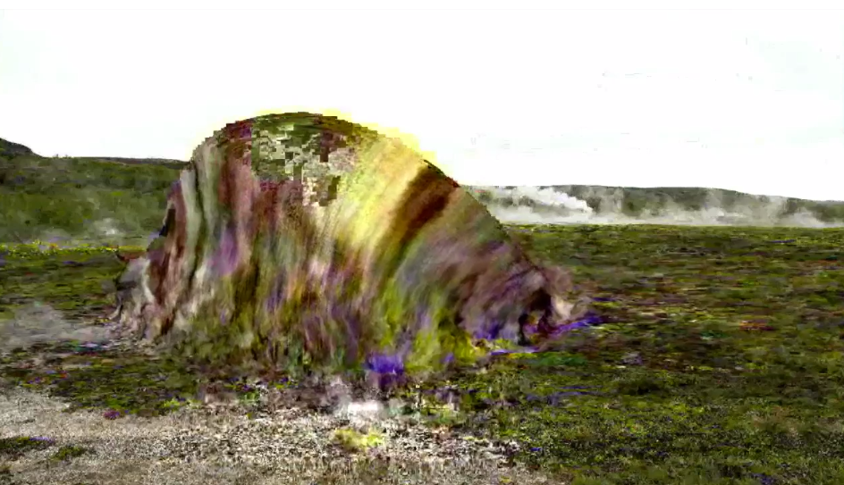 KVIKA   projected video installation (video still)  2014