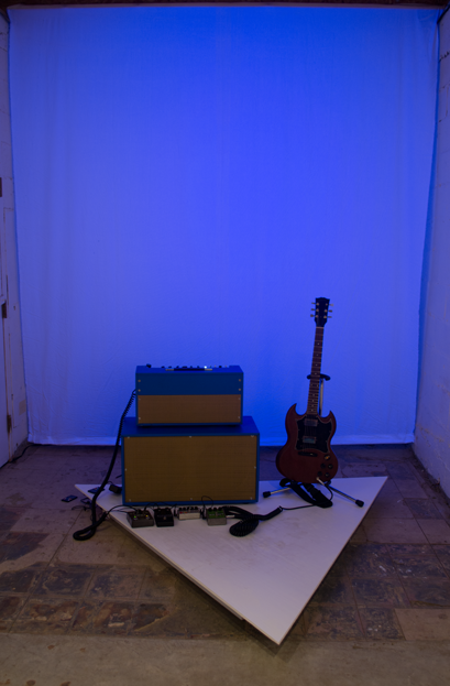 Stage for Solo Performer       wood, amp, guitar, pedals, LEDs   2015